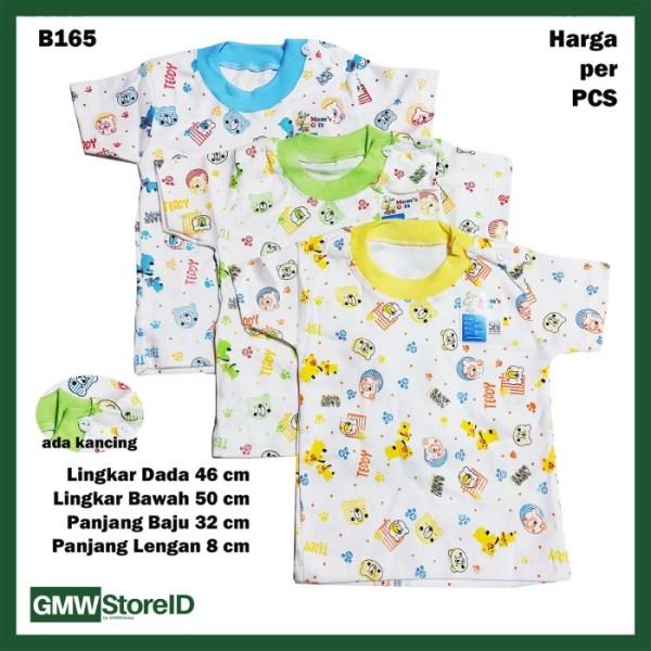 B165 Baju Bayi Cowok Kaos Putih Warna Motif Lucu T-Shirt Baby Boy SNI