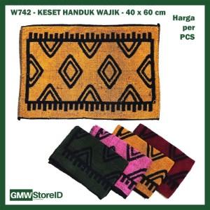 W742 Keset Handuk 40x60 cm Murah Doormat Mat Motif Gambar Wajik Warna