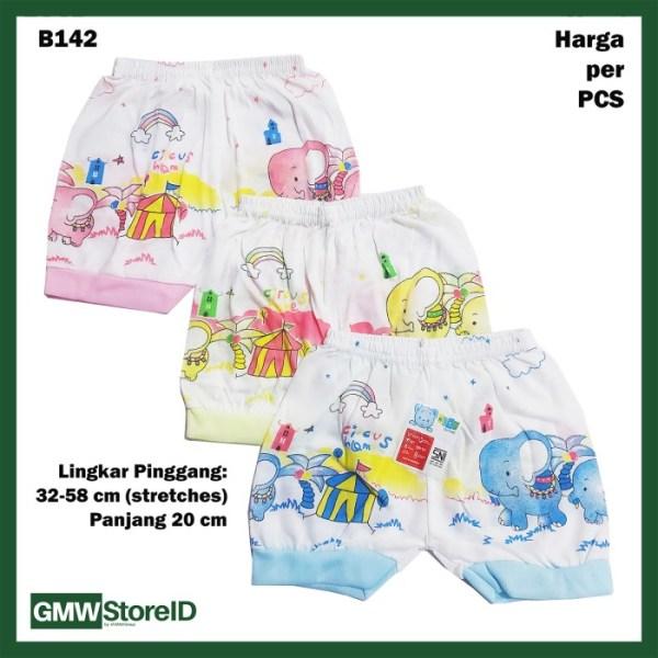 B142 Celana Pendek Bayi Motif Gambar Warna Baby Clothes Unisex SNI