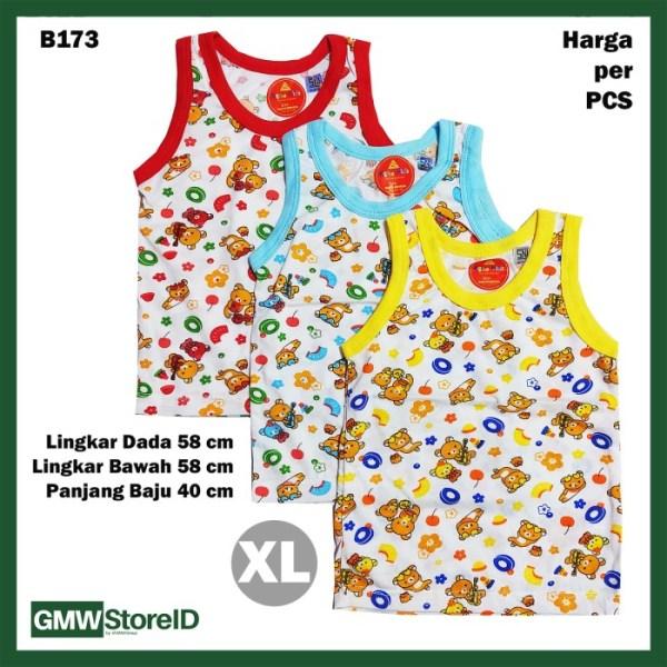 B173 Baju Buntung Bayi Cowok XL Singlet Laki Brown Bear Baby Agree SNI