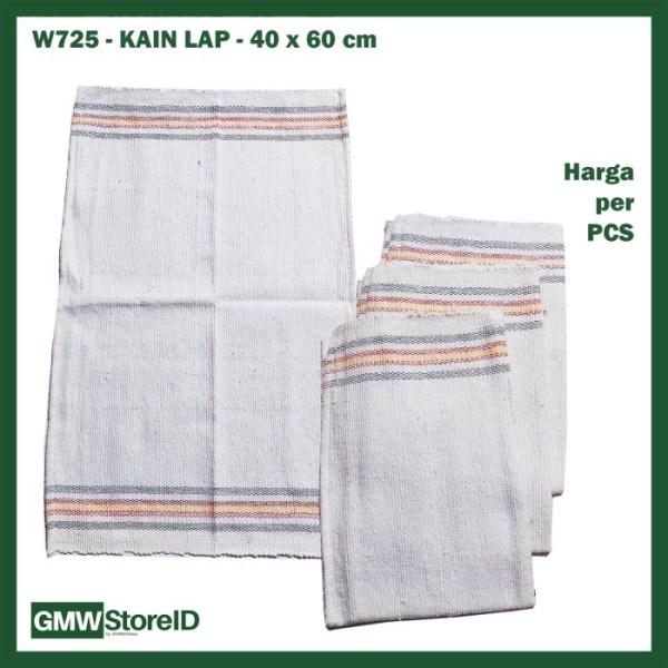 W725 Kain Lap 40 x 60 cm Warna Putih Pel Lantai Cloth Dapur Murah
