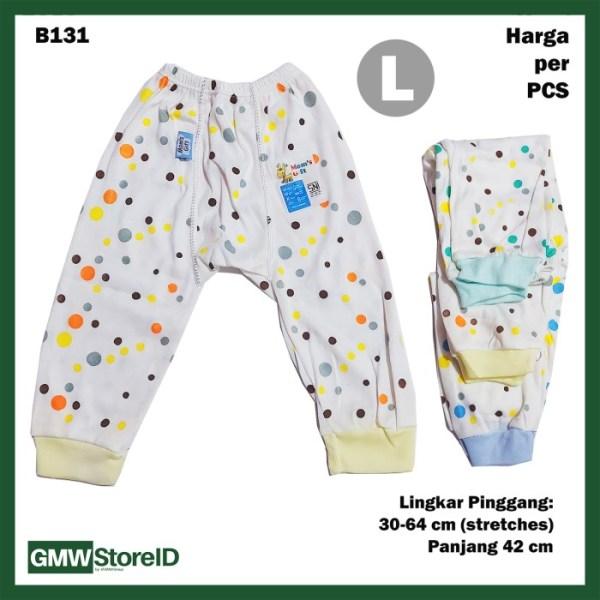 B131 Celana Panjang Bayi Size L Motif Polkadot Baby Pants Unisex SNI