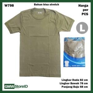 Kaos Oblong Hijau Army Pria Baju Laki-Laki Green Agree T-Shirt Men F36