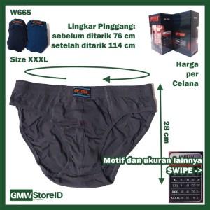 Celana Dalam Pria Optima Jumbo Mens Underwear Laki Big Size Katun I16