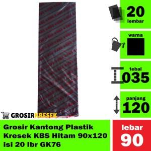 Grosir Kantong Plastik Kresek Sampah KBS Hitam 90x120 isi 20 lbr GK76