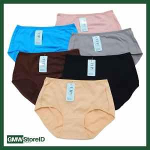 W615 CD Jumbo Wanita Celana Dalam Perempuan Warna Polos Underwear J32