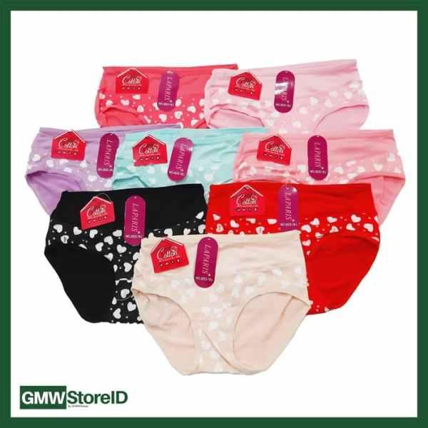 W609 CD Wanita Motif Warna Size Undies Women Underwear Simply J26