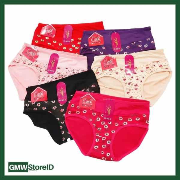 W607 CD Wanita Celana Dalam Perempuan Undies Warna Corak Cantik J24