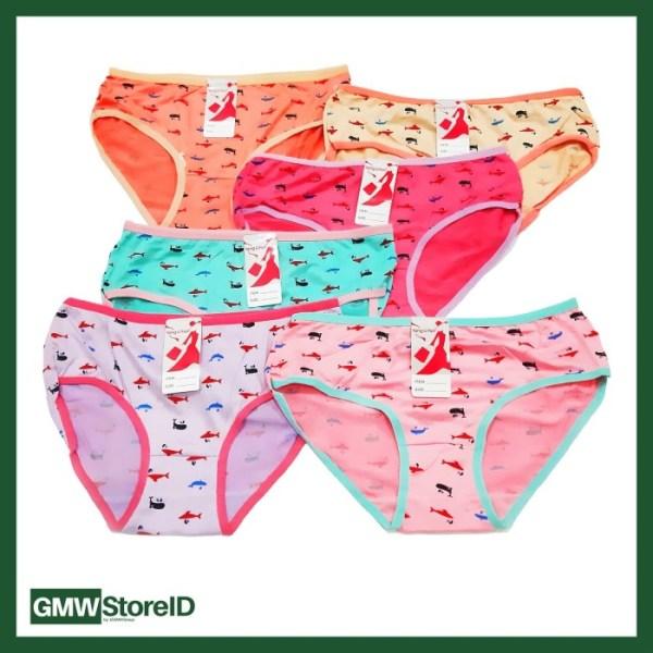 Celana Dalam Wanita CD Perempuan Motif Ikan Yong Li Fen 5523 W329