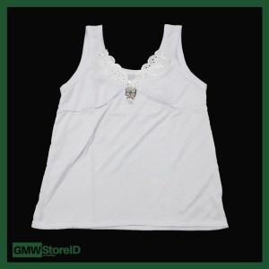 Singlet Kaos Dalam Wanita Leher V Renda Besar Katun Adiler 046 W322