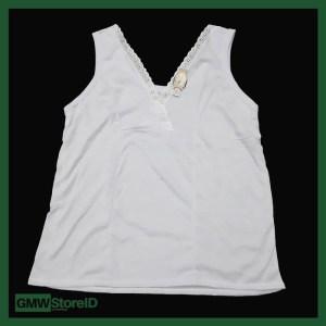 Singlet Kaos Dalam Wanita Katun Leher V Renda Adiler All Size 050 W320