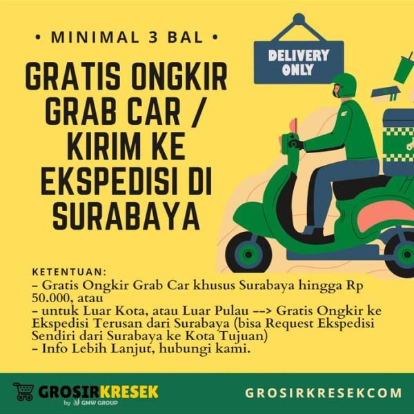 GL03 Grosir Kantong Kresek MINIBEE UNGU HD Besar 28x48x017 isi 40 lbr