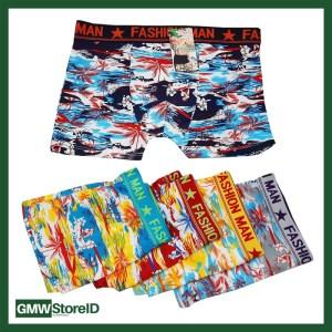 W419 Boxer Cowok Celana Pria Ban Karet Allsize Tipe I01 - Men Motif