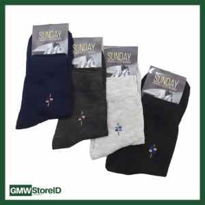 W385 Kaos Kaki Kerja Formal Dewasa Pria Tipe A03 - Men Socks Murah