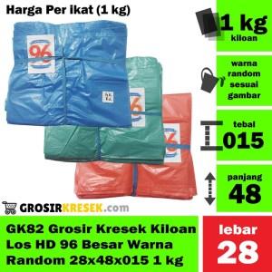 GK82 Grosir Kresek Kiloan Los HD 96 Besar Warna Random 28x48x015 1 kg