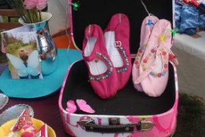 Pink Chinese Mary Jane Slippers