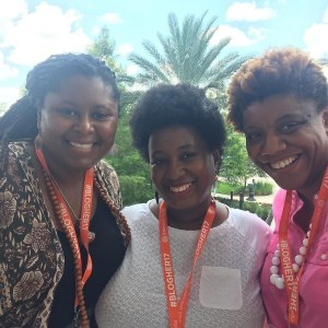 Jovan, Nicole and Nichelle at BlogHer17