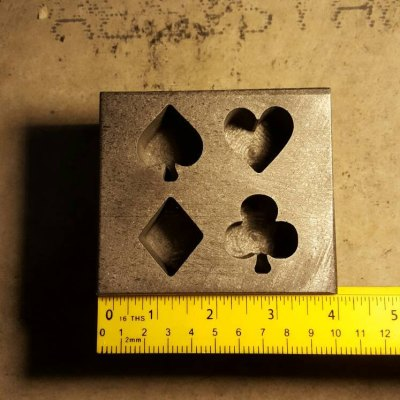This is our Graphite Poker suit mold