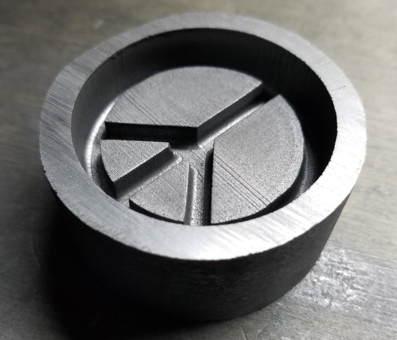 This is our Graphite Peace Sign Mold