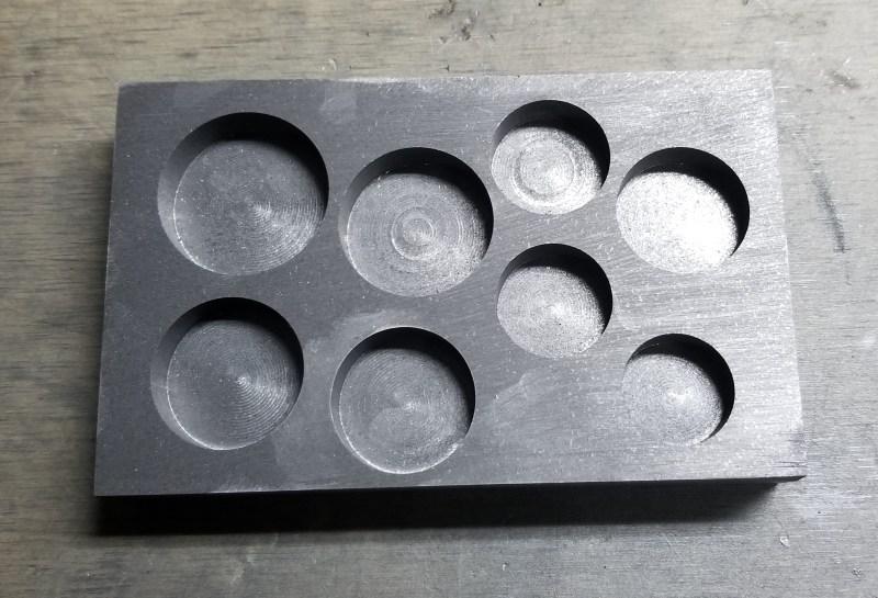 A preform graphite gauge mold.
