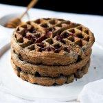 Gluten Free Buckwheat Waffles with Raspberry Swirls ?
