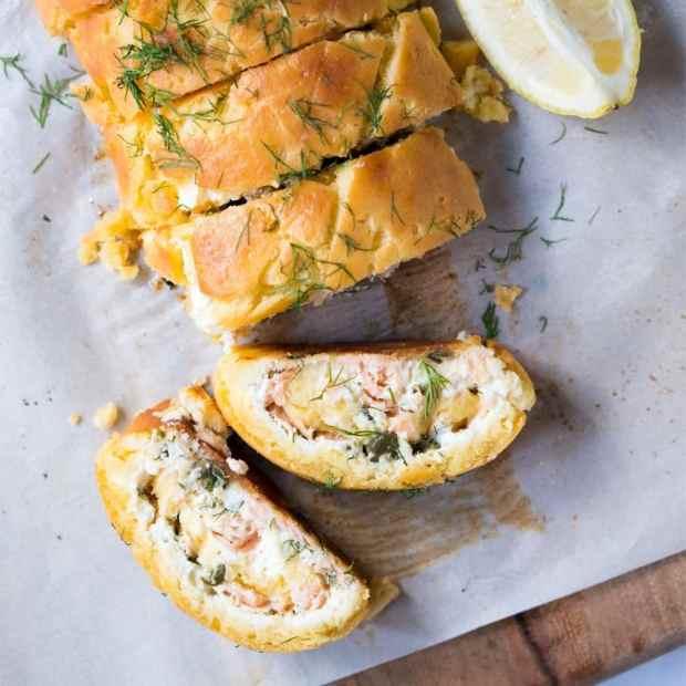 Gluten Free & Keto Smoked Salmon & Ricotta Pastry Roll-Up ?