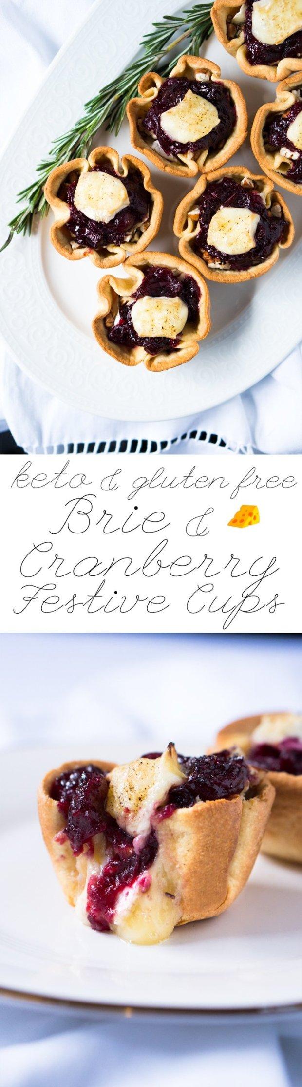 Keto Brie Cranberry Festive Cups 🎄 3g net carbs #keto #ketobrie