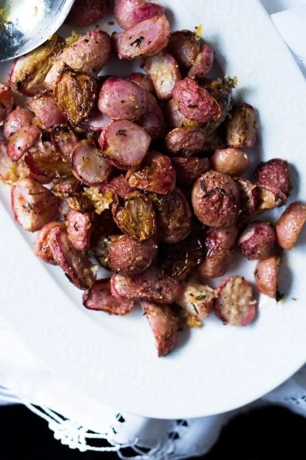 Low Carb & Keto Parmesan Roasted 'Potatoes' i.e. Radishes 🧀