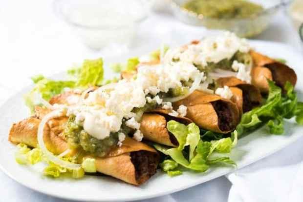 Gluten Free & Keto Mexican Flautas i.e. Tacos Dorados