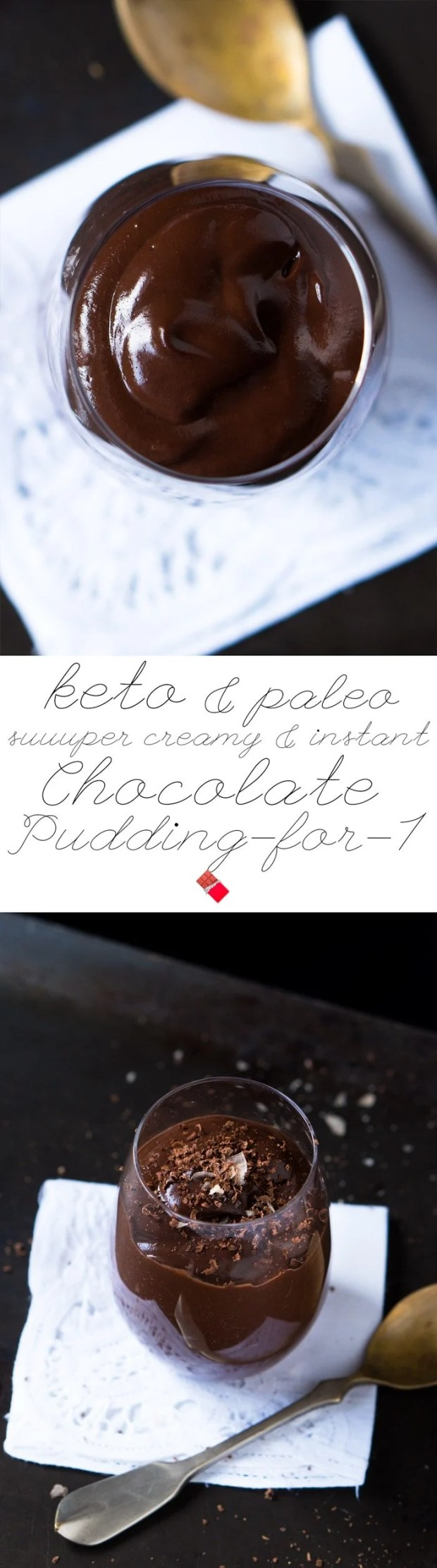Paleo & Keto Chocolate Pudding-For-1 🍫 suuuper creamy & instant #ketochocolate #paleochocolate #ketodessert