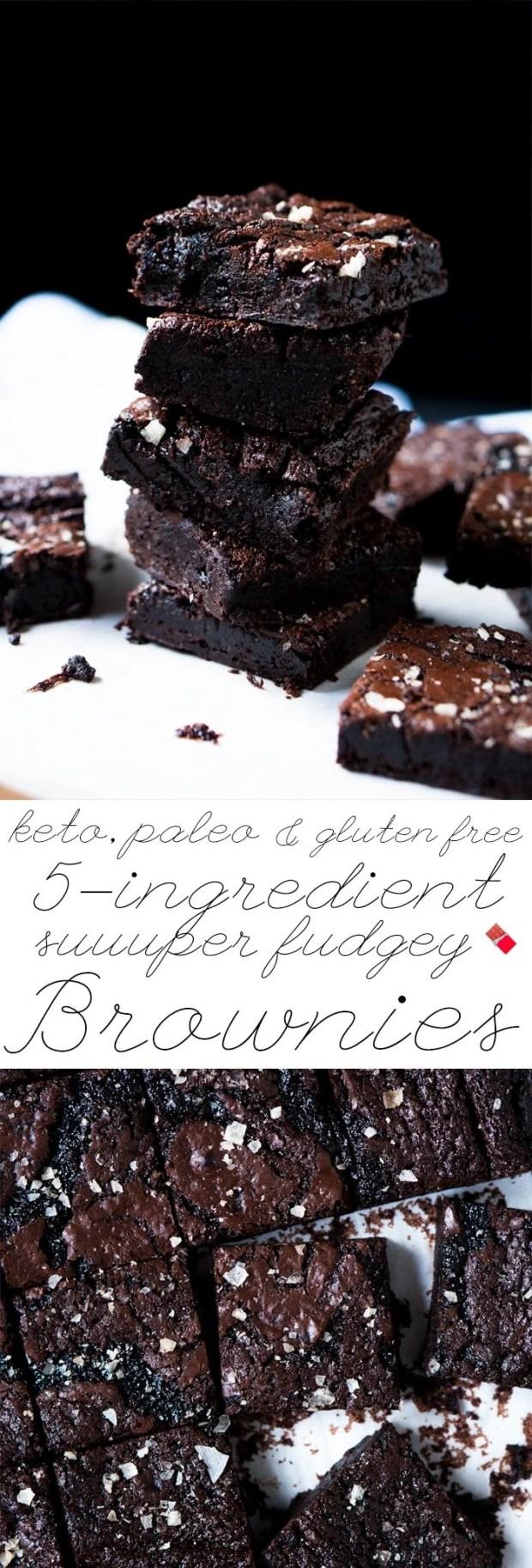 Suuuper Fudgy Gluten Free, Paleo & Keto Brownies 🍫 only 1g net carbs a pop! #ketobrownies #paleobrownies