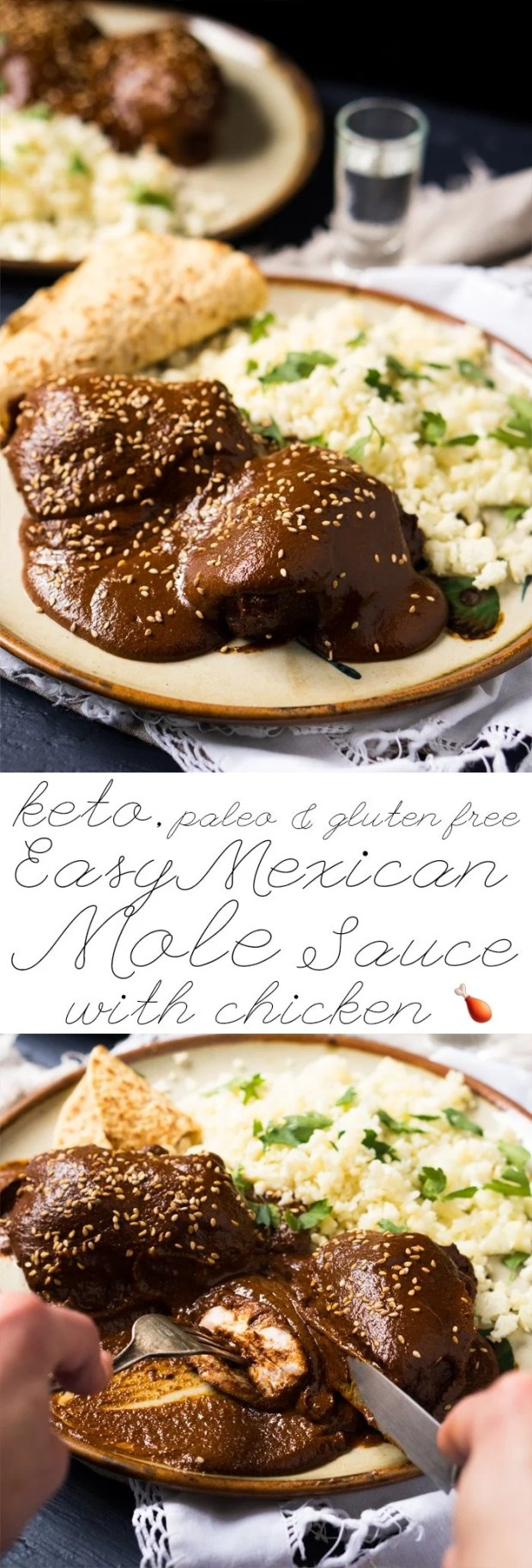 Gluten Free, Paleo & Keto Mexican Mole Sauce With Chicken 🍗 The easy version! #keto #ketomexican #ketodinner