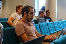 Behdad Esfahbod in audience during break (Photo by Jakub Steiner.)