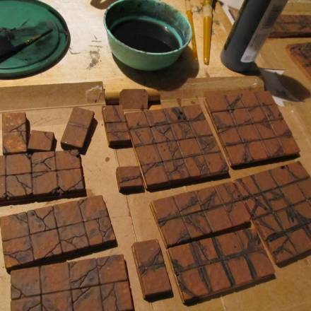 Troy's Crock Pot: Building Terrain with One Tile Mold, Part 4