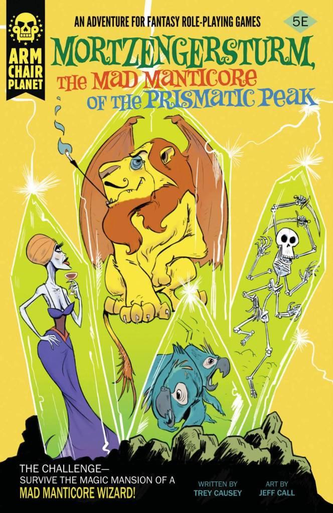 Cover of Mortzengersturm, the Mad Manticore of the Prismatic Peak