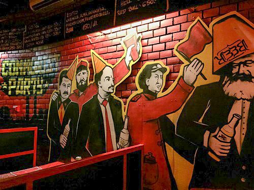 The communist party at Red Ruin Bar.