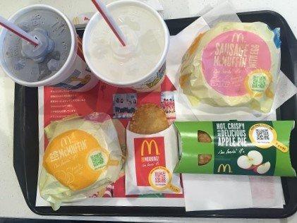 McDonald's breakfast in Tokyo