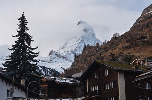 Many of the hotels in Zermatt have a great view of the impressive Matterhorn.