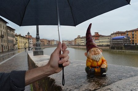 Rainy gnome