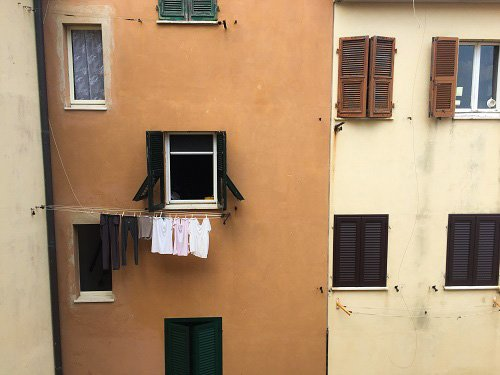 Most Europeans just hang their clothes out the window.