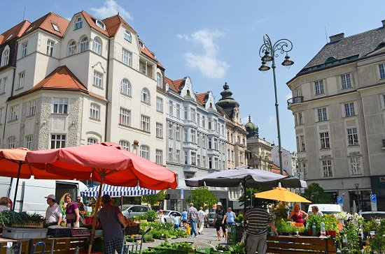 Brno has a nice farmer's market in the center of the city.