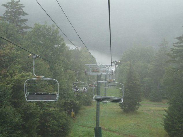 Ever seen a West Virginia ski resort off-season? It's like Halloween Horror nights in July.