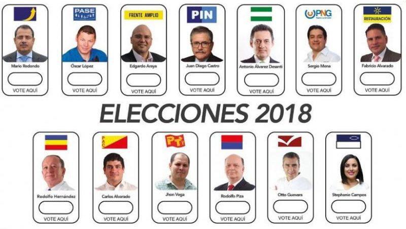 Papeleta Elecciones Costa Rica 2018