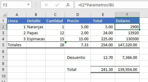 Excel Ejemplo 1