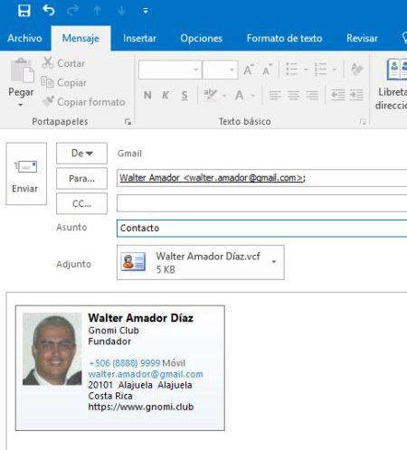 Ficha en Email