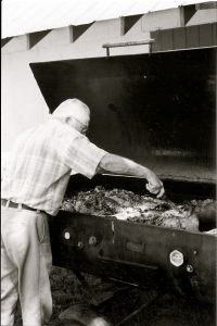 My Great Uncle making NC Pork BBQ