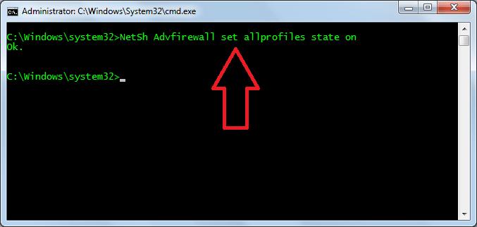 Enable-Windows-Firewall-using-cmd