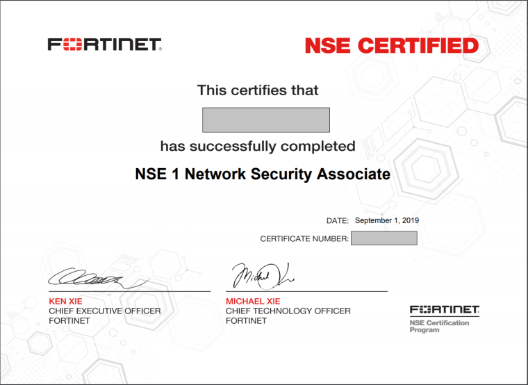 fortinet-nse1-certification