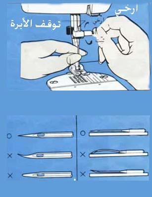 طريقة تركيب إبرة الخياطة