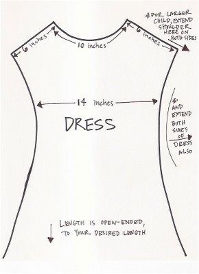 نموذج لباترون الفستان